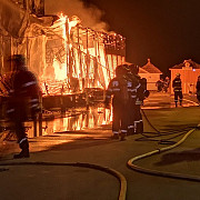 incendiu puternic la clubul bamboo din mamaia