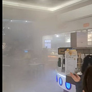 incendiu la afi persoanele aflate in interior au fost evacuate