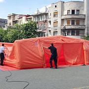 alegeri europarlamentare 2019 corturi si garduri metalice la palatul administrativ din ploiesti