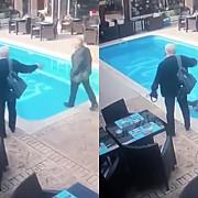 control cu peripetii un inspector anaf neatent a cazut in piscina unui restaurant din constanta