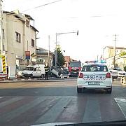 accident in ploiesti un taxi s-a rasturnat iar o femeie a ajuns la spital
