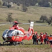foto accident la telega provocat de un sofer beat si fara permis a fost chemat elicopterul smurd
