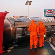 cisterna cu 30 de tone de combustibil implicata intr-un accident la busteni