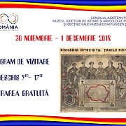 program special de vizitare la muzeul judetean de istorie si arheologie in perioada 30 noiembrie - 1 decembrie 2018