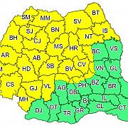 cod galben de furtuni cu ploi vijelii si vant puternic valabil pentru nordul centrul si vestul tarii pana maine la ora 11