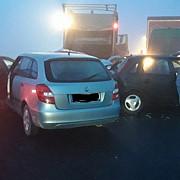 accident in lant in care au fost implicate peste 10 autovehicule pe centura brasovului trei persoane au fost ranite