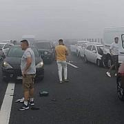 peste 50 de masini implicate in carambolul de pe autostrada a2 bucuresti-constanta pe sensul catre litoral
