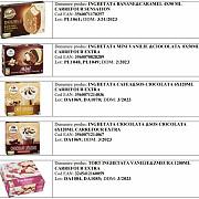 carrefour retrage de la comercializare 20 de sortimente de inghetata marca proprie din cauza prezentei peste limita admisa a oxidului de etilena in compozitie