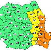 avertizare meteo cod portocaliu de ploi in estul tarii este afectat si litoralul alte 7 judete sunt sub cod galben