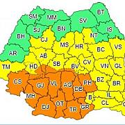 cod portocaliu de vijelii si grindina in mare parte din tara harta judetelor afectate