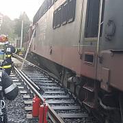incendiu la o locomotiva a unui tren privat de calatori in gara sinaia