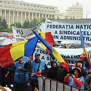fnsa miting cu 3000 de angajati din administratie publica miercuri in fata guvernului