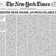 new york times si-a umplut prima pagina cu numele persoanelor ucise de covid-19