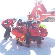 accident la ski in sinaia victima preluata de elicopterul smurd