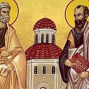 ce nume se sarbatoresc de sfintii apostoli petru si pavel peste 500000 de romani au zi onomastica
