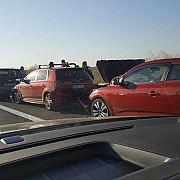 patru accidente pe autostrada soarelui in care au fost implicate 12 masini traficul este ingreunat