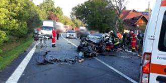 tragedie pe sosele  un copil si o femeie au murit intr-un accident cu sase victime