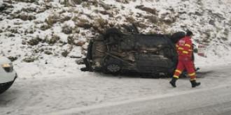 video  o masina in care se aflau patru oameni s-a prabusit pe transfagarasan