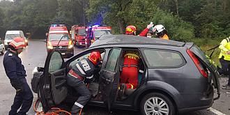 accident grav cu patru victime una in stop cardio-respirator pe dn1