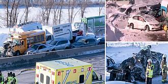 canada carambol cu 200 de masini pe un drum in apropiere de montreal doi oameni au murit iar 70 au fost raniti