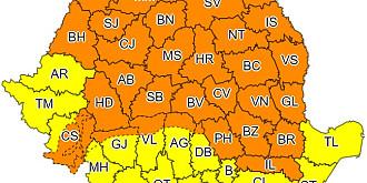 cod portocaliu de vreme rea inclusiv in prahova