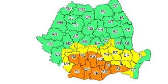 avertizare meteo cod portocaliu de ploi in bucuresti si in 10 judete harta zonelor vizate
