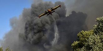 insula rhodos a ramas fara curent electric si fara apa sunt incendii de amploare in partea de nord a mediteranei