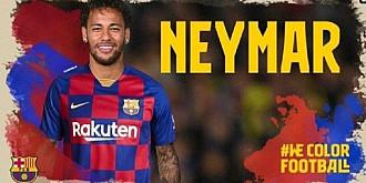 conturile de twitter ale cio si fc barcelona au fost piratate pe contul catalanilor a aparut o imagine cu neymar