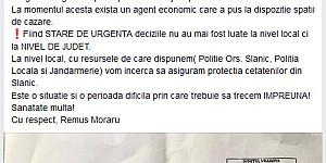 primarul din slanic revoltat ca in oras a fost organizat un centru de carantina postarea publica a edilului liberal