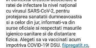 mesaj ro-alert alegeti sa va vaccinati acum impotriva covid-19 informati-va din surse oficiale