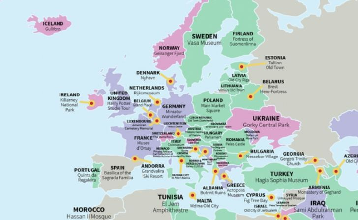 Harta Obiectivelor Turistice Din Intreaga Lume Care Este Cea Mai
